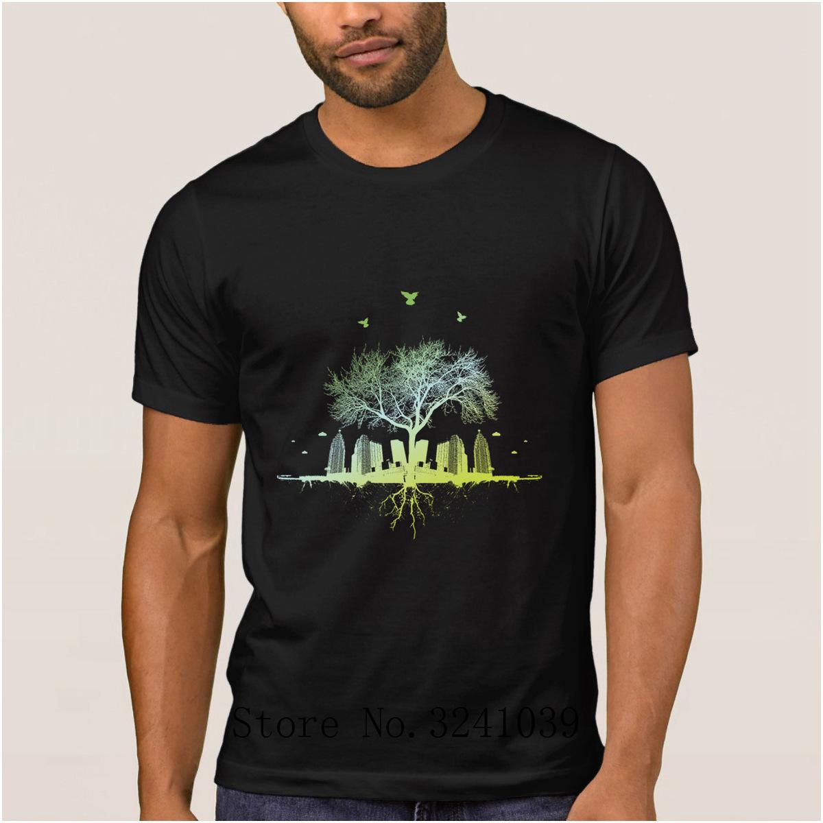 La Maxpa The new citytree t shirt for men summer Interesting Abstract Tree and Knife t-shirt mens Euro Size S-3xl men's tshirt