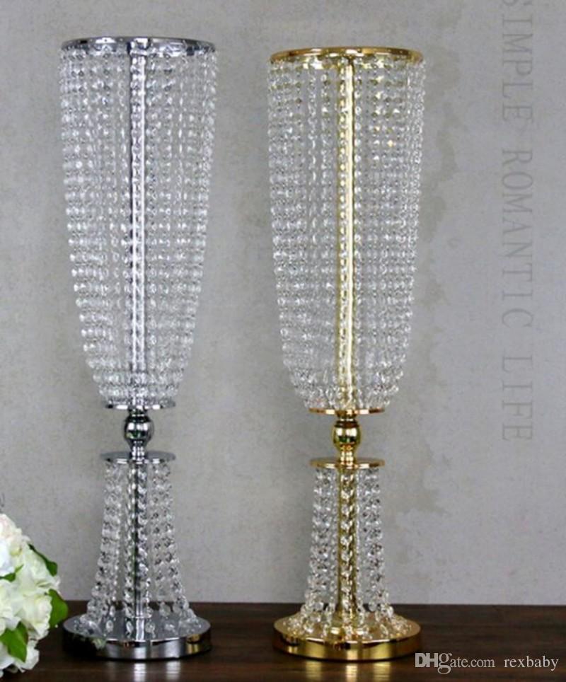 عرس العرض معدن الكريستال حبة مأدبة الجدول محور الفضة لون الذهب حزب تزيين الثريا