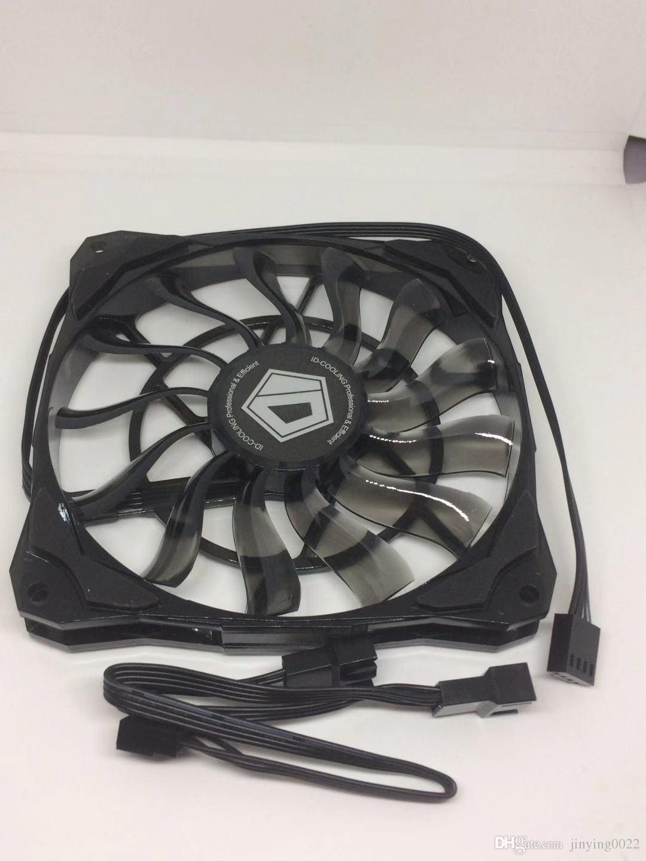 ID-COOLING NO-12015 12CM ventilateur fin 4pin contrôle de la température épaisseur 1.5CM ventilateur mince 12cm épaisseur 15mm ultra-mince contrôle de la température PWM f