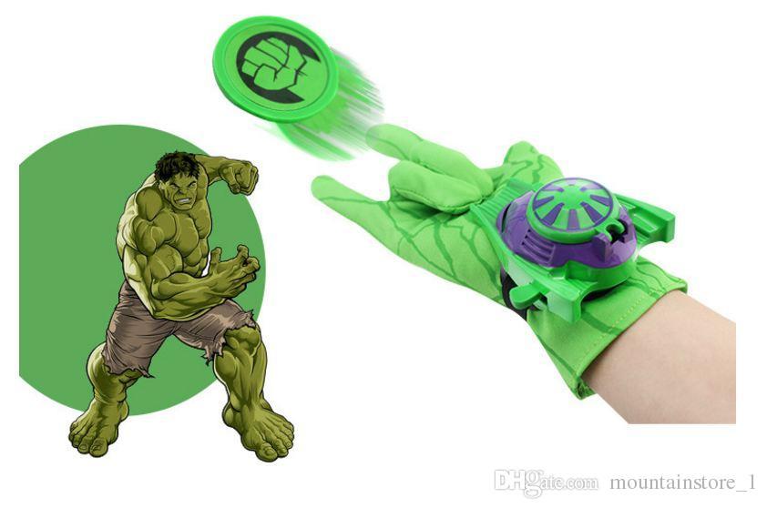 Good Kids Spider Iron Bat Launcher Gloves Children Action Figure Toys Boys With Retail Box (5 Model)
