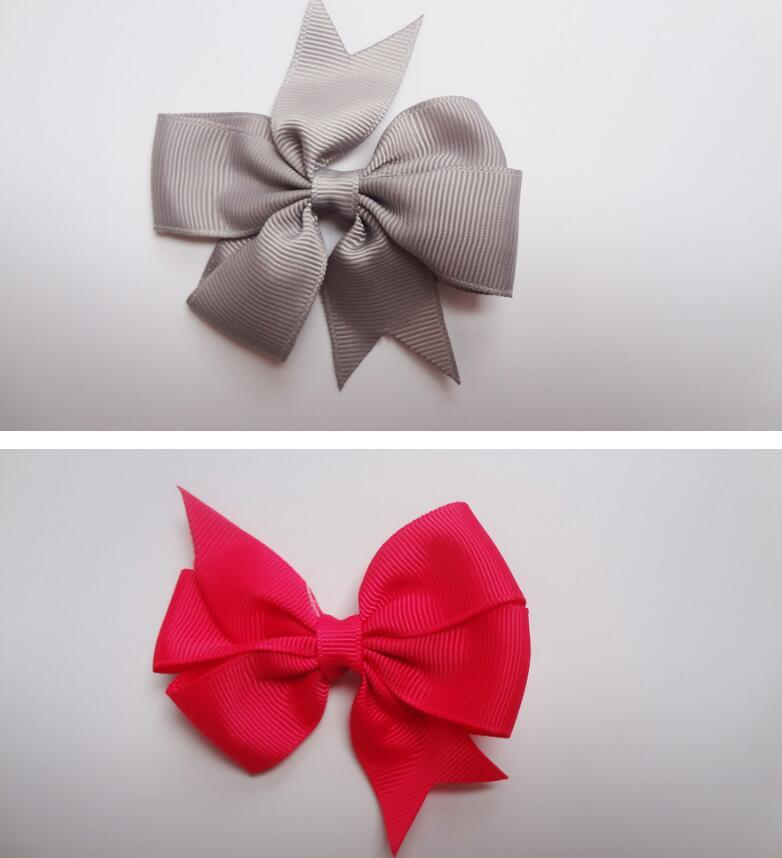 """25pcs//lot 8/""""  Girls Solid Colors Cheerleading Bow Cheer Bow With Elastic Band"""