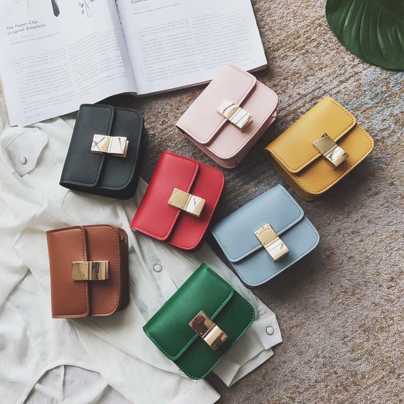 Baby Girls Messenger Bags 2018 New Fashion Korean Lovely Chain Cross-body Handbags Kids Purse Child Bag Girl Mini Bags 2Styles