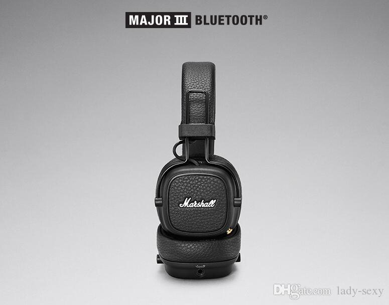 Regalo natalizio MARSHALL MAJOR III Cuffie BLUETOOTH Con microfono Deep Bass Hi-Fi Cuffie DJ professionali Cuffie MARSHALL MAJOR 3.0