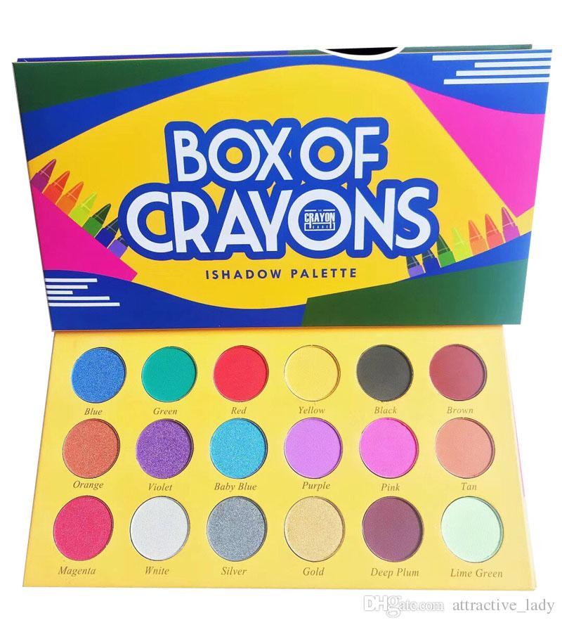 توافر جديد مستحضرات التجميل BOX OF CRAYONS Eyeshadow 18 Fashion Colour Eyeshadow Palettes