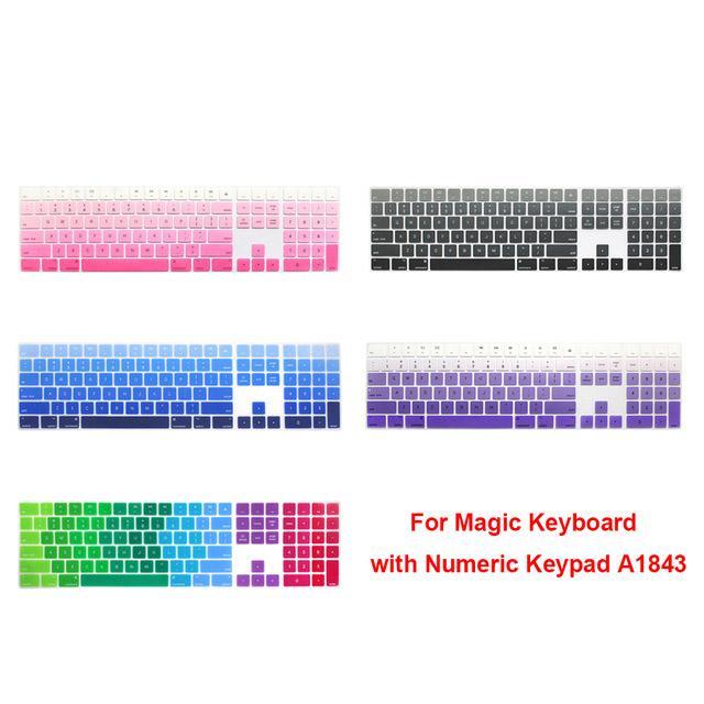 Sayısal Tuş A1843 MQ052LL / A Apple Magic Keyboard için Silikon Klavye Kapak Tuş takımı Koruyucu 2017 yılında yayımlanan