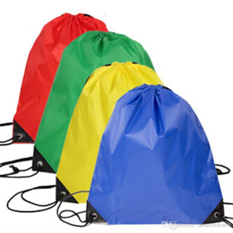 BAMBINI GRASSING BAGS Vestiti scarpe Scuola Sport Gym PE Dance Backpacks in nylon Zaino in nylon Borsa in poliestere