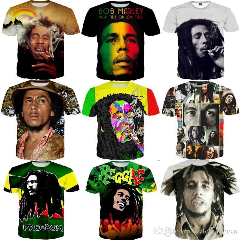 Shirt Uomo Donna Acquista Tshirts Marley Stampato T All'ingrosso Bob 5A4j3cRLq