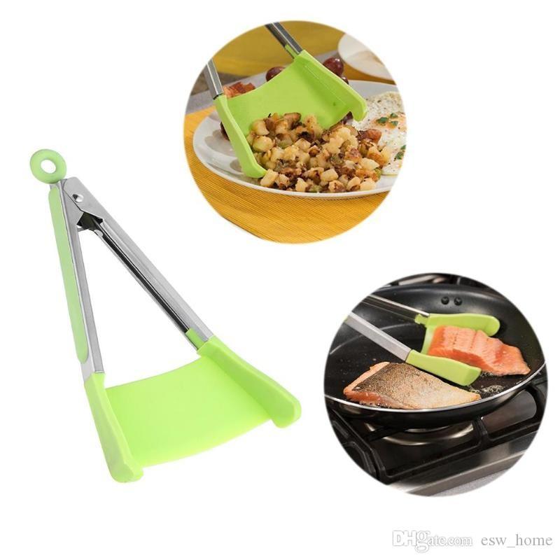 Умные щипцы 2-в-1 Кухня шпатель щипцы антипригарные жаропрочные клипы барбекю рамка силиконовые и посудомоечная машина кухня щипцы инструменты