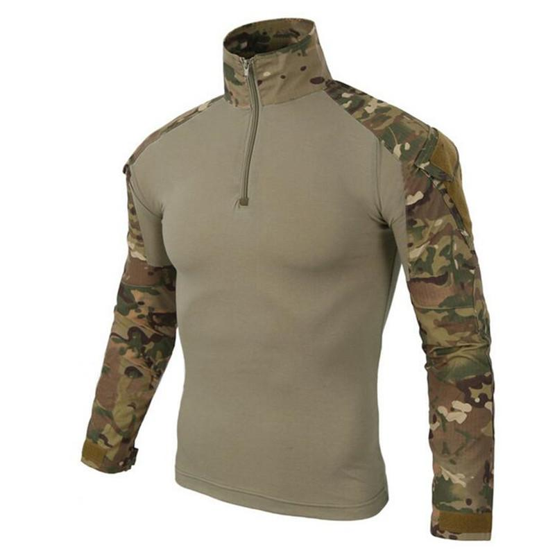2018 US Army Tactical Uniform Camouflage Combat-Proven Shirts Rapid Assault Long Sleeve Shirt ZH
