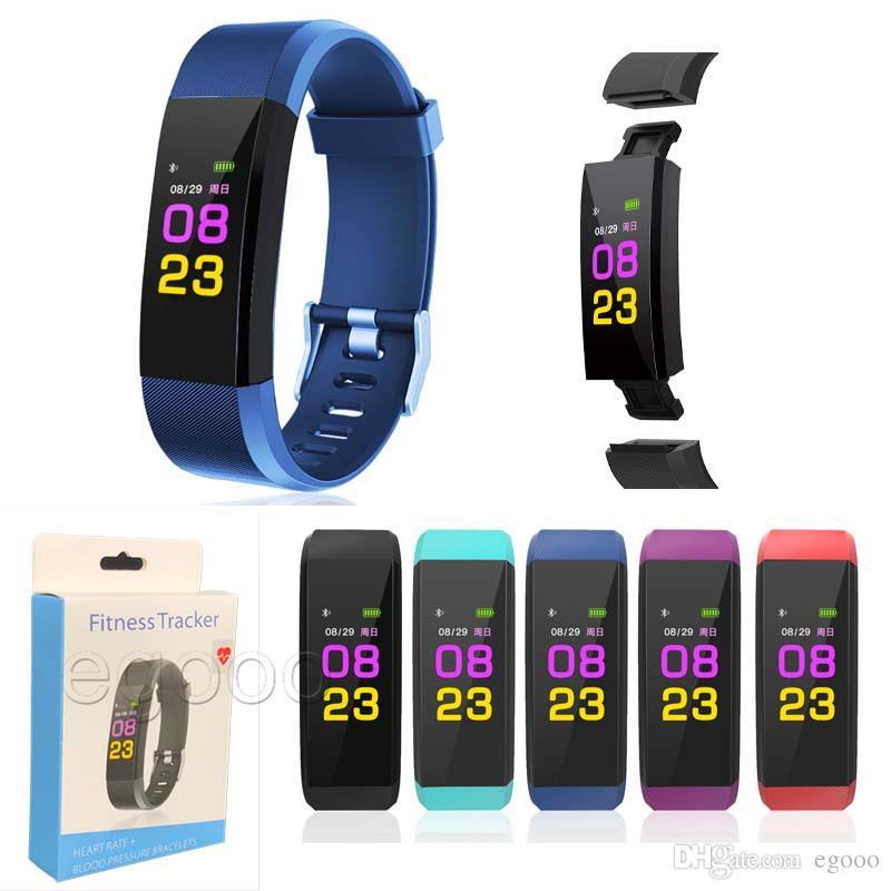 Smart Armband Armband Fitness Herzfrequenz Tracker Schrittzähler Aktivität Monitor Band Wasserdichtes Armband für iOS Android ID115 Plus