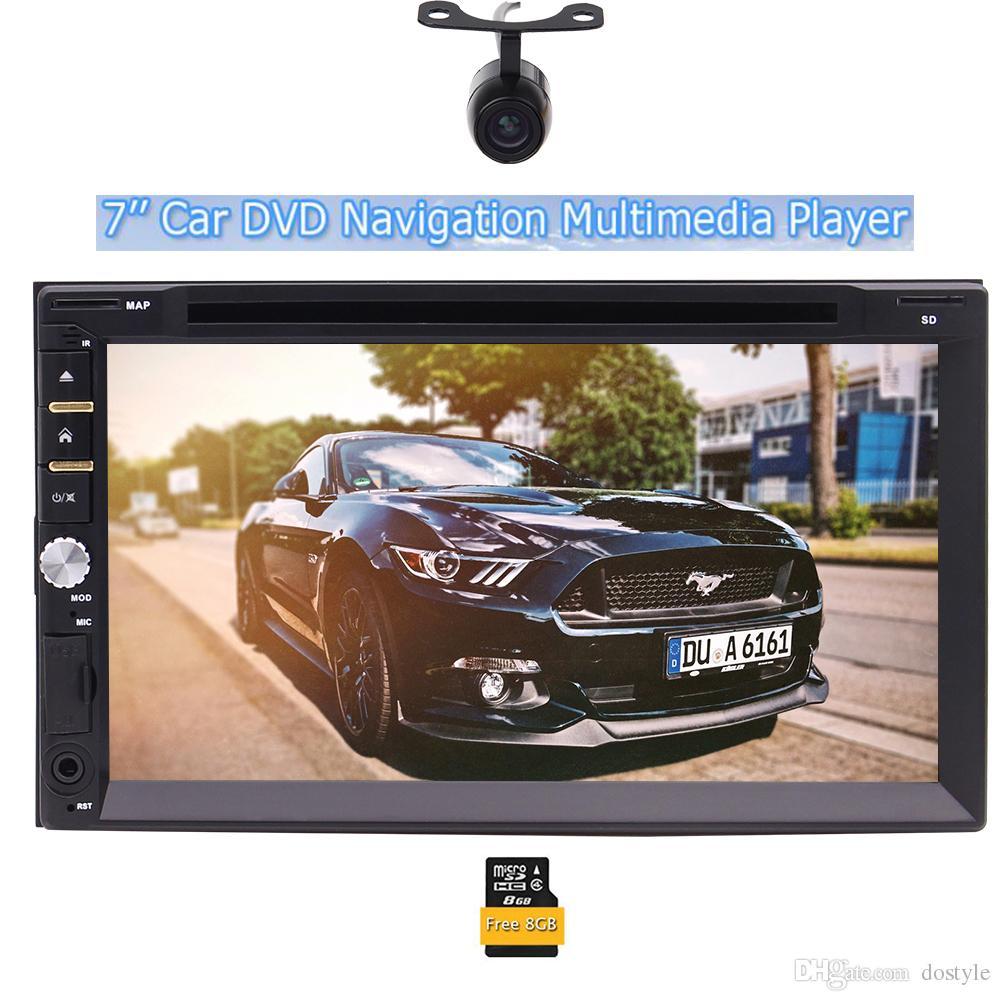 "Eincar 7 ""Double Autoradio Autoradio Autoradio Lecteur DVD de voiture Bluetooth USB Sd Mp3 Récepteur Radio AM / FM Universel Voiture + Caméra de recul"