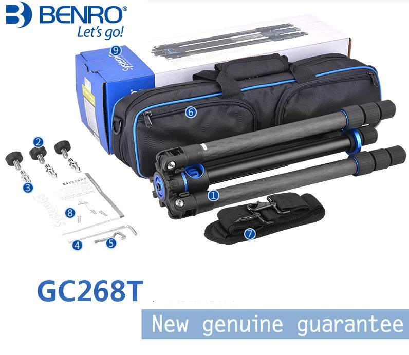 wholesale GC268T Carbon Fiber Professional Camera Tripod Portable Tripods For SLR Cameras