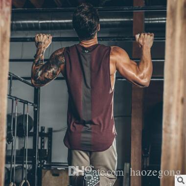 new designer t-shirts for strong men high quality mens fitness clothing casual gym tank top mens breathable clothing