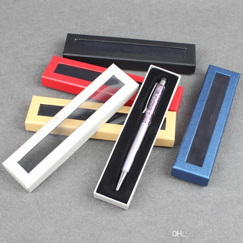 Cajas de papel de la caja de la pluma caja de papel de cartón de la caja de cartón de empaquetado de regalo creativo general con ventana de plástico pvc LX0515