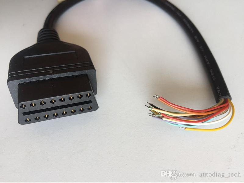 16 Pin J1962 OBD2 OBDII Female Diagnostic Connector Cable Pigtail