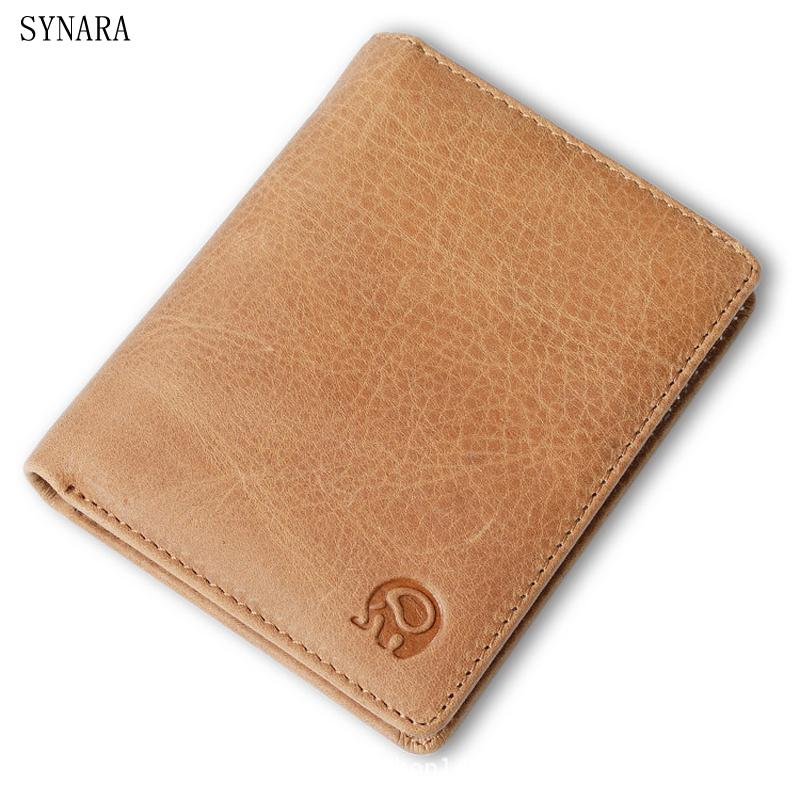 100/% Genuine Leather Small Mini Ultra-thin Wallets men Compact wallet Handmade