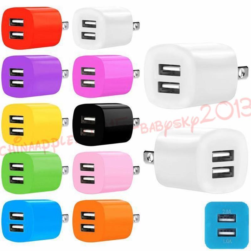 2A + 1A 듀얼 USB 포트 US EU AC 홈 여행 벽 충전기 전원 어댑터 삼성 갤럭시 S4 S6 S7 가장자리 주 4 5 PC MP3