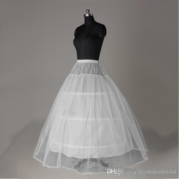 Darmowa Wysyłka Tanie New White 3-Hoop 1 Warstwa Dla Panny Młodej Suknia Ślubna Bridal Crinoline Petticoats Linia Akcesoria ślubne Vestido de Noiva