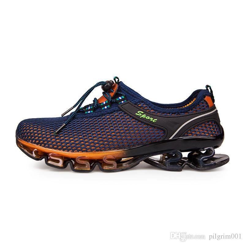 Açık yürüyüş ayakkabıları trekking erkekler dağ kamp spor kadınlar wading memba nefes elastik örgü AYAKKABI