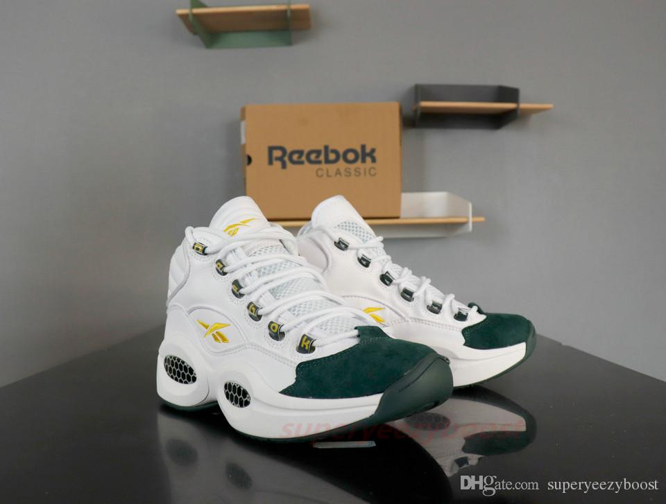 Top Quality Reebok Question JET LIFE Basketball Shoes For Men 2019 New Mens High Hexalite Cushion White Red Yellow Breathable Boots 40 45 Mens Loafers