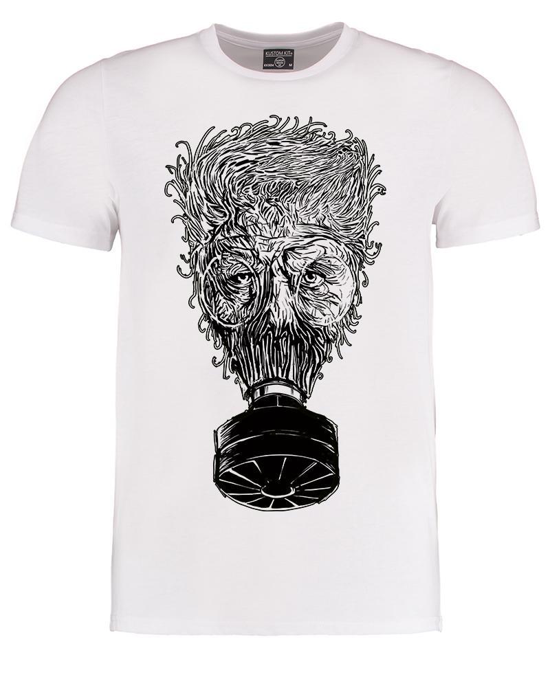 Toxic Man- SteamPunk gas mask gas man Men's T-Shirt - Ice-Tees