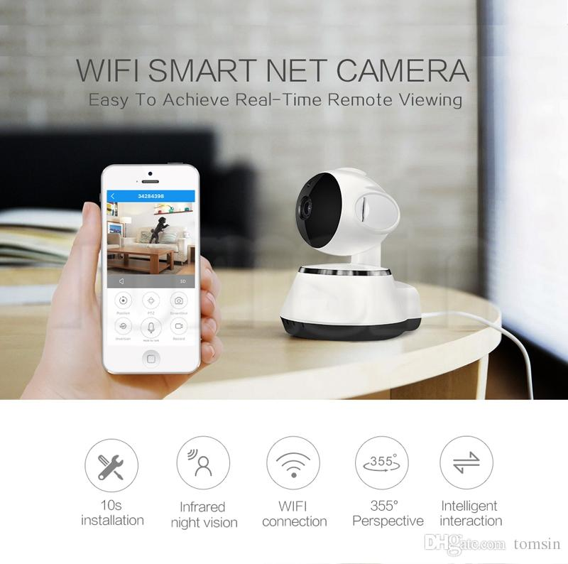 New Pan Tilt Wireless IP Camera WIFI 720P CCTV Home Security Cam Micro SD  Slot Support Microphone & P2P Free APP ABS Plastic Camera With Internet