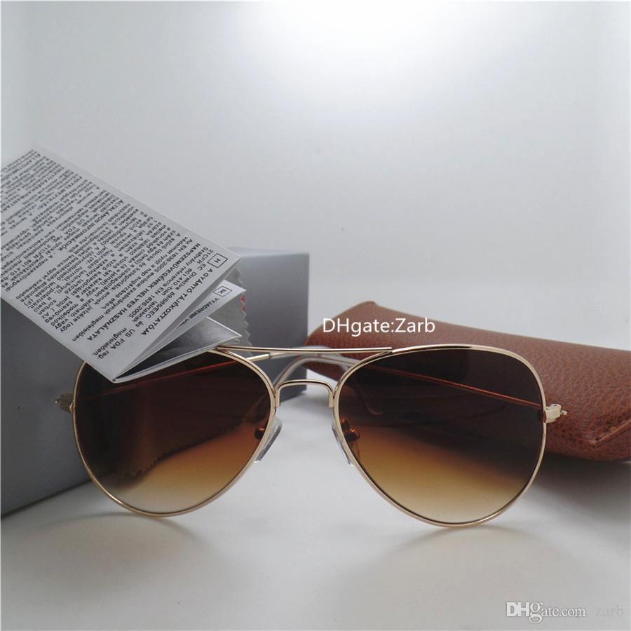 Strand Vintage Glas Linse Männer Brille mit UV400 Pilot Gläsern High Party 58mm Box Qualität Frauen Unisex Spiegel Mercury Sonnenbrille Pilot Jkoe