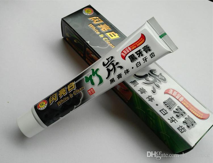 Drop Shipping nouveau dentifrice au charbon dentifrice noire dentifrice de bambou charbon de bois dentifrice d'hygiène buccale dentifrice en stock