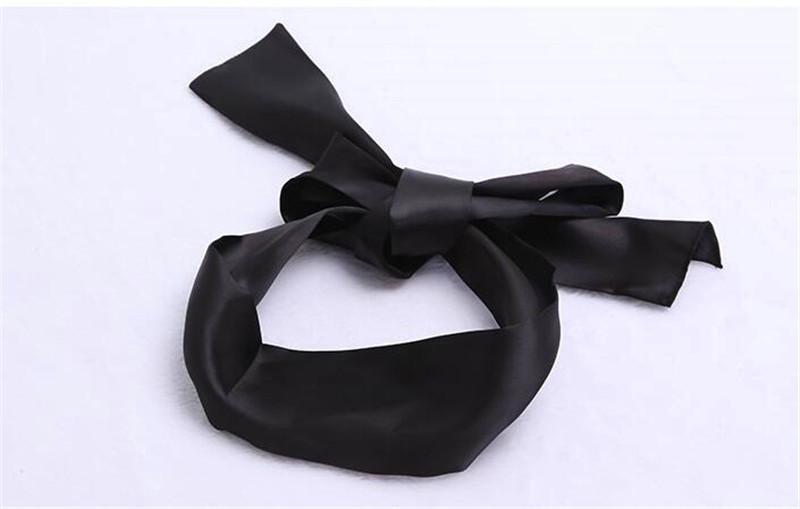Black Satin ribbon Blindfold Sexy Eye Mask Patch Bondage Masque Mask Sex Aid Party Fun Flirt Sex Toys For Woman Men Couples