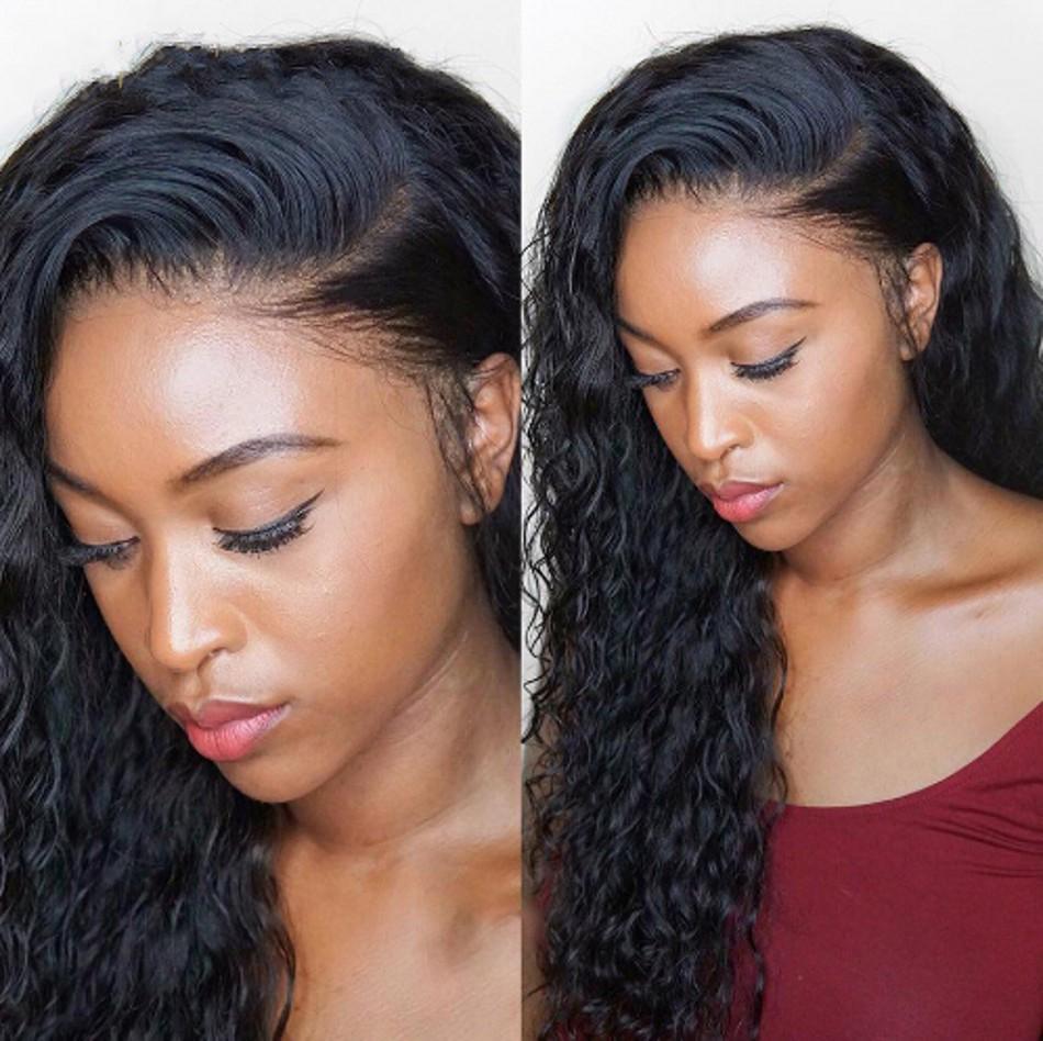 Perruques frontales de la dentelle de cheveux humains brésiliennes pour femmes WIG de la dentelle d'eau de haute qualité avec des cheveux de bébé