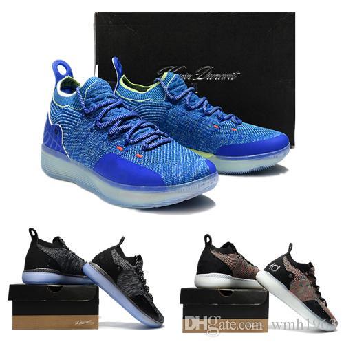 2019 وصول جديد Kevin Durant 11 أحذية كرة السلة للرجال KD 11 XI ذهبي / بطولة MVP Finals التدريب الرياضي أحذية رياضية Run Shoes Size 7-12