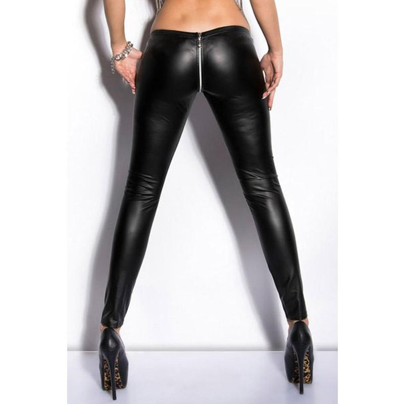 attractive fashion harmonious colors search for clearance 2019 Wholesale Sexy Zipper Open Crotch Pencil Pants Faux Leather Leggings  Gothic Pencil Hot Pants Capris Club Dance Wear FX1020 From Fenghuangmu, ...
