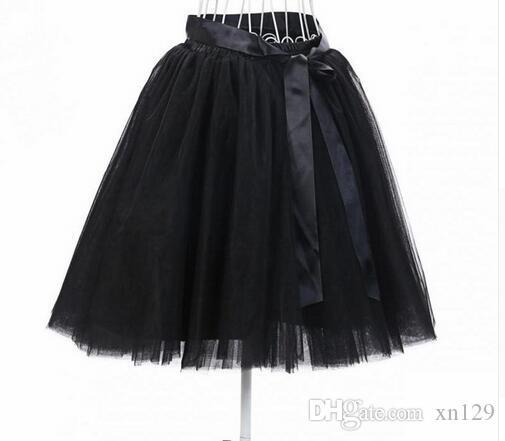 Europa e Estados Unidos Mini Saia Fluffy Skirt Tutu Selling 7-Camada Adulto Tulle Saia Frete Grátis 2018
