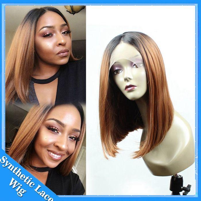 Synthetic Wig Short Ombre Bob Wig Blonde