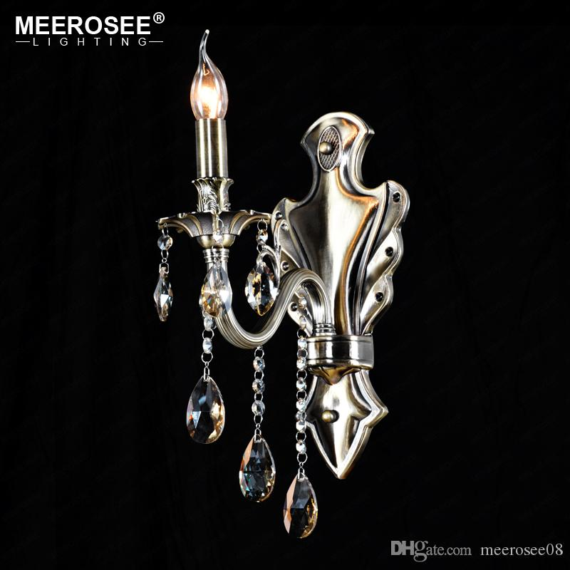Crystal Wall Light Lustres Wall Sconces Lamp Bedroom Wall Brackets Lighting Fixture for bedroom Living room 100% Guarantee