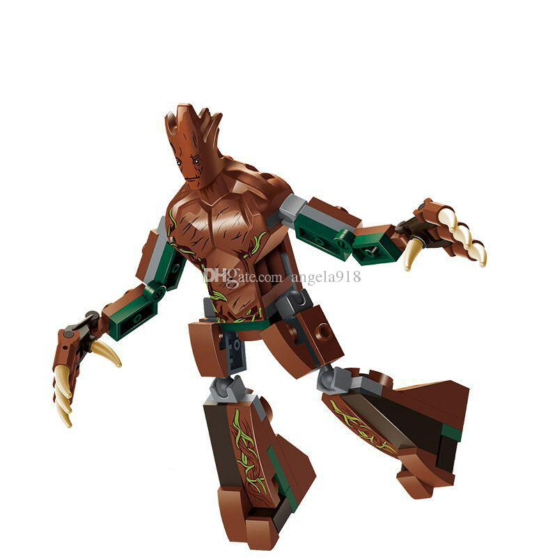 2018 new Guardians of the Galaxy Building Blocks cartoon plastic Groot Bricks C4621