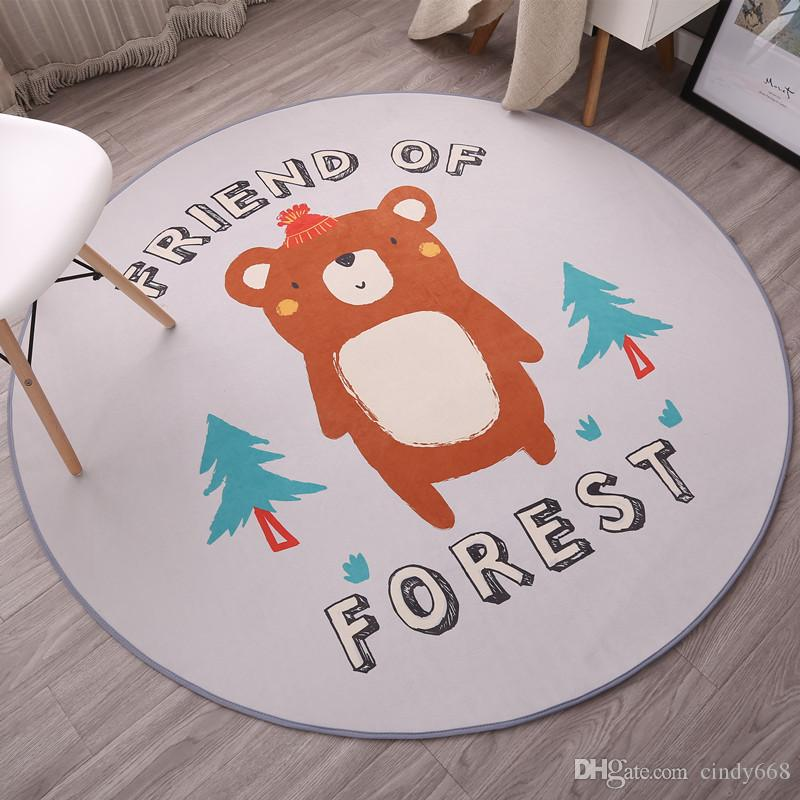 Circular Carpet Mat Swivel Chair Computer Cushion Basket Cradle Cushion Bedside Carpet For Children's Bedroom Living Room Floor Mat Bath Rug