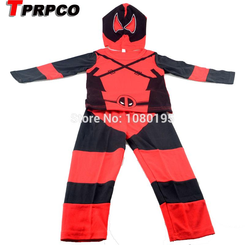 TPRPCO Children Deadpool Costume Halloween Costume for Kids Boys Party Cosplay Disfraces Carnival Toddler Clothing Set NL965