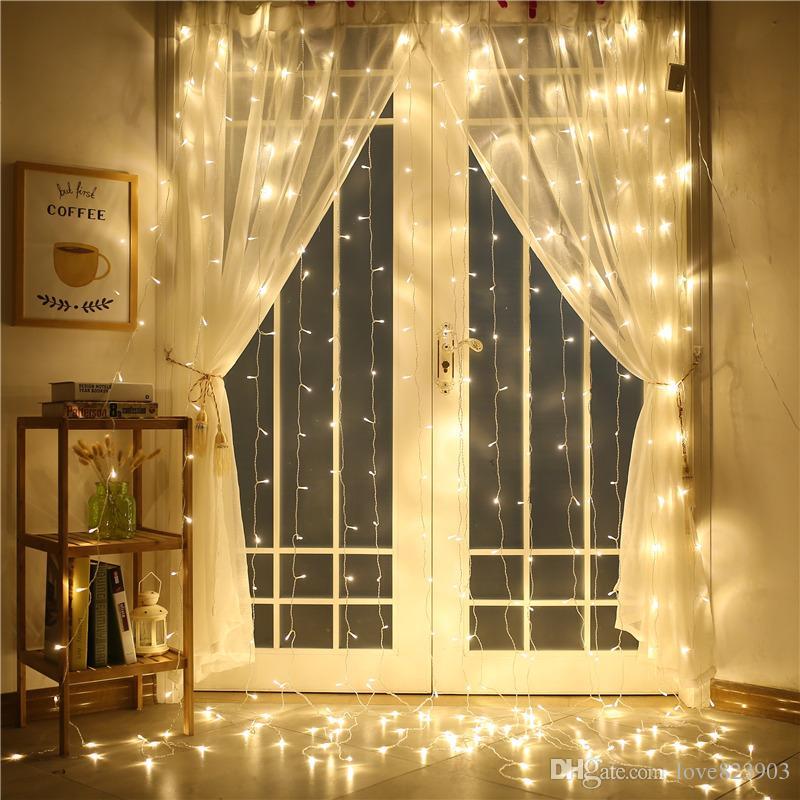 Wholesale 110V / 220V 4M X 4M 512 LED屋外屋内カーテンライトパーティークリスマスデコレーションストリングウェディング/ホテル/フェスティバル送料無料