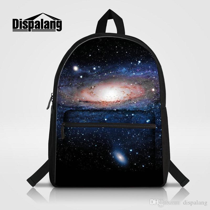 Canvas Women's Backpack Galaxy Stars Printing Laptop Backpacks For College Students Universe Space Mens Travel Bagpacks Rucksack Rugtas Pack