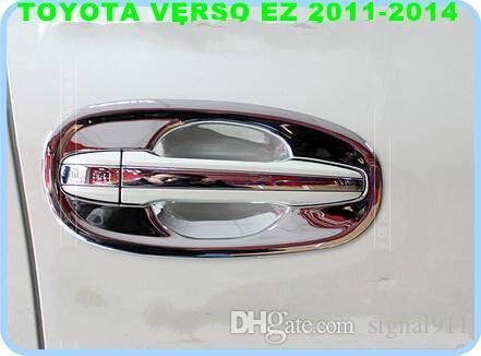 送料無料!トヨタverso EZ 2011-2014のための高品質ABS Chrome 4PCSの扉のドアのハンドルの装飾ガードスカッフボウル