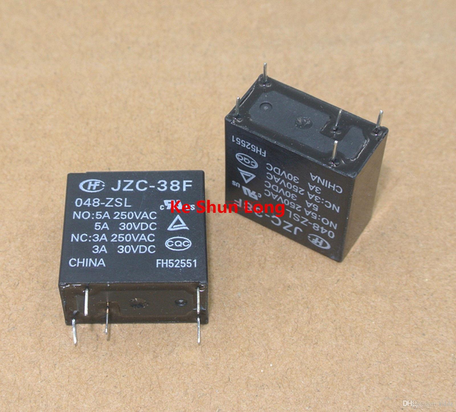Ücretsiz kargo lot (5 adet / grup) HONGFA HF JZC-38F-048-ZSL HF38F-048-ZSL 5 PINS 5A 48VDC Güç Rölesi orijinal Yeni