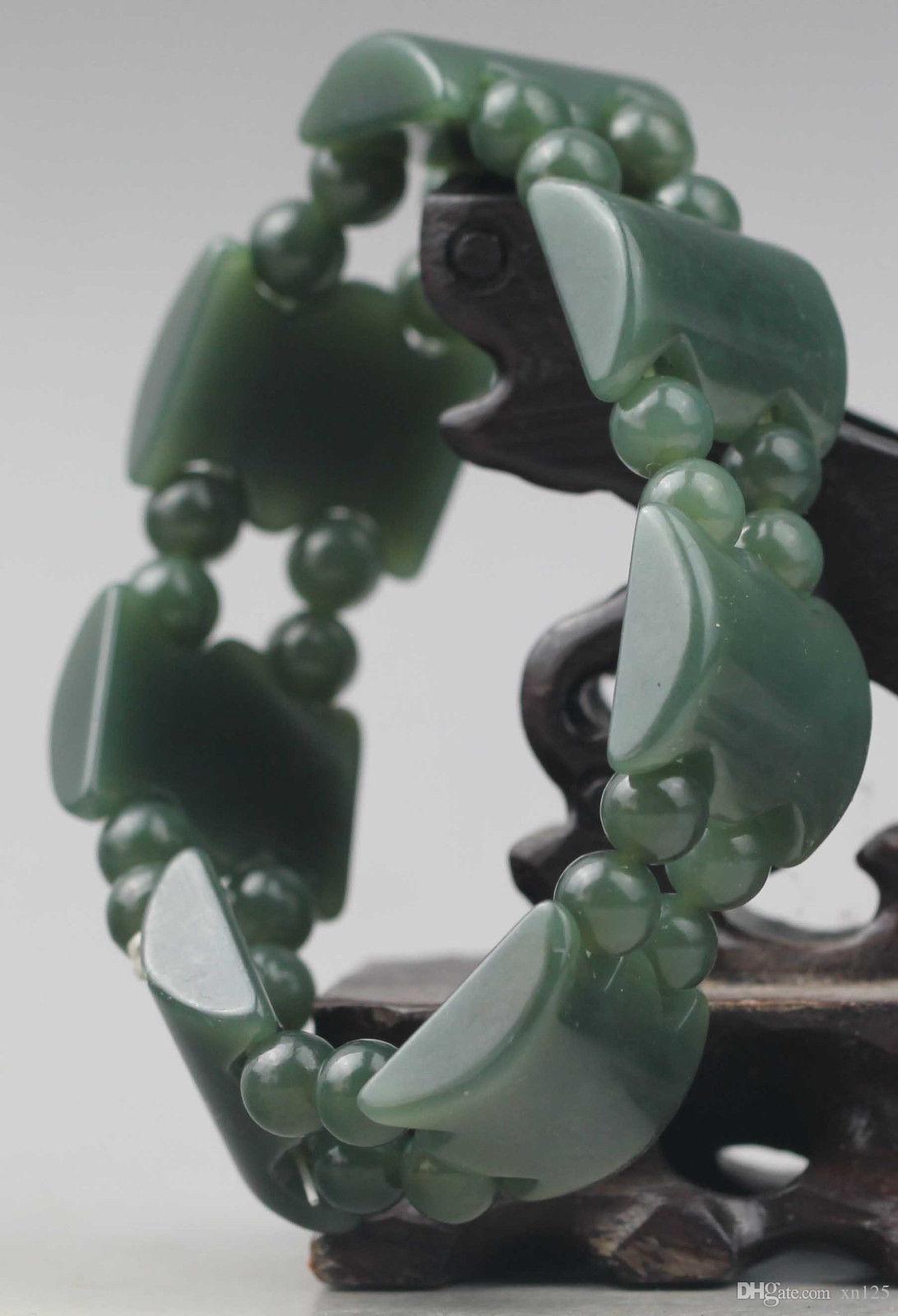 Bracelet en jade de jade de hetian naturel de Chine bracelet jade sculpté à la main NO.C595