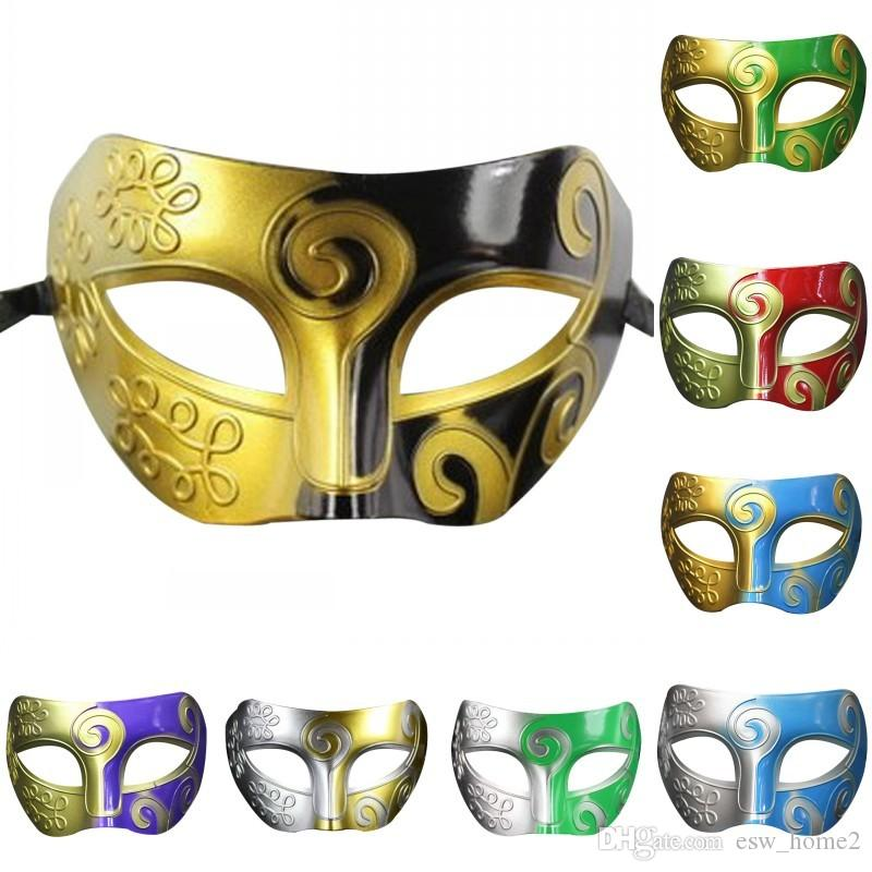 mask Retro Roman Gladiator Swordsman Halloween Party Masks Mardi Gras Masquerade