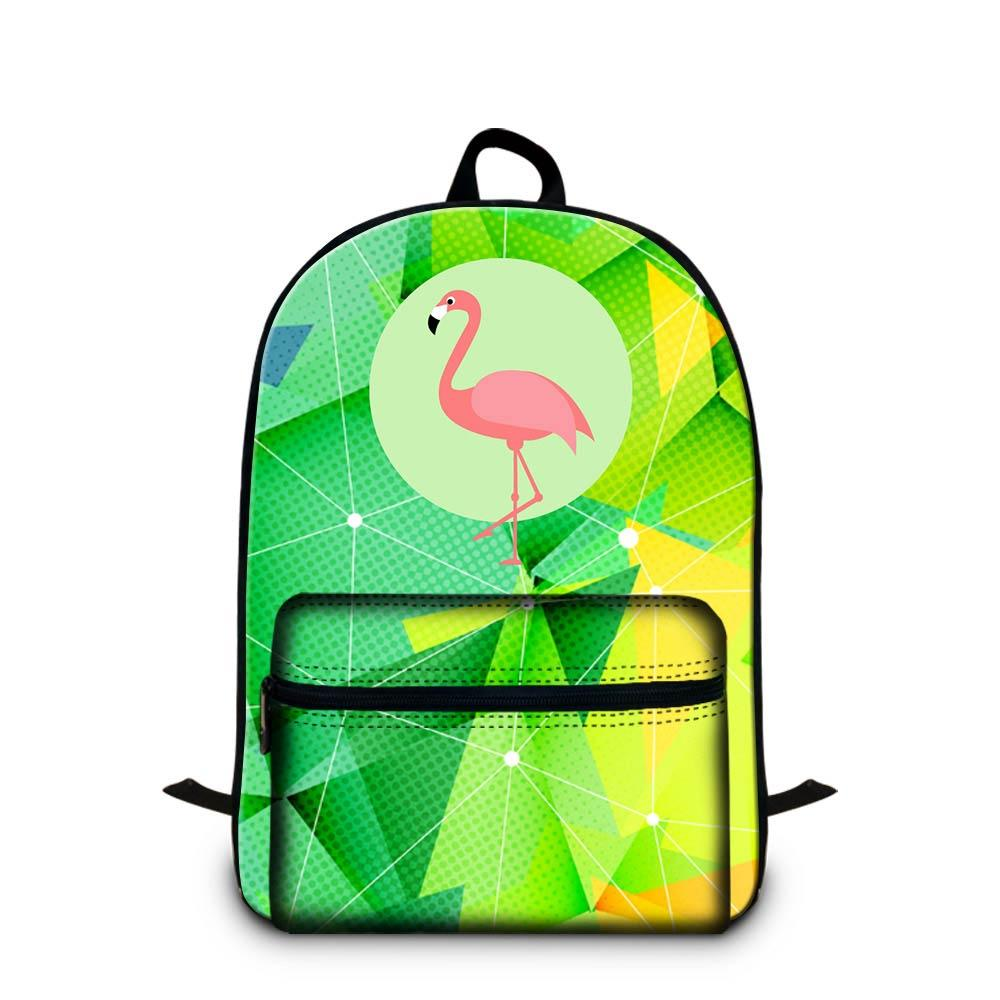 High Quality Canvas Laptop Backpack For Teenage Boys Girls Animal Flamingo Designer School Bag For Primary Student Children Fashion Bookbags