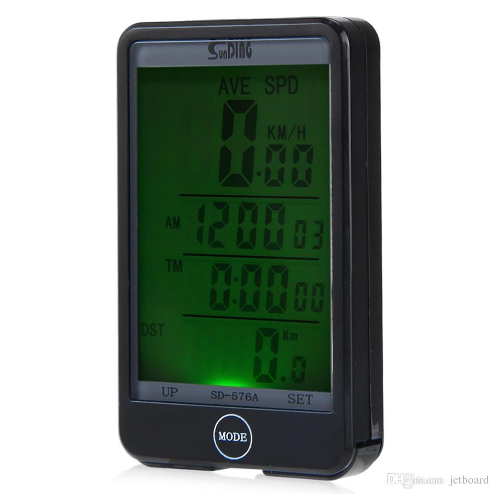SD - 576A Waterproof Auto Light Mode Touch Wired Bicycle Computer Speedometer with LCD Backlight Portable, durable and convenient