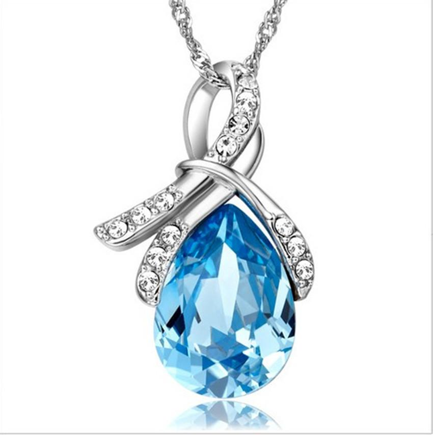 3 Colors Austrian Crystal Necklace Pendants Jewellery & Jewerly 2018 Necklace Women Fashion Jewelry Wholesale