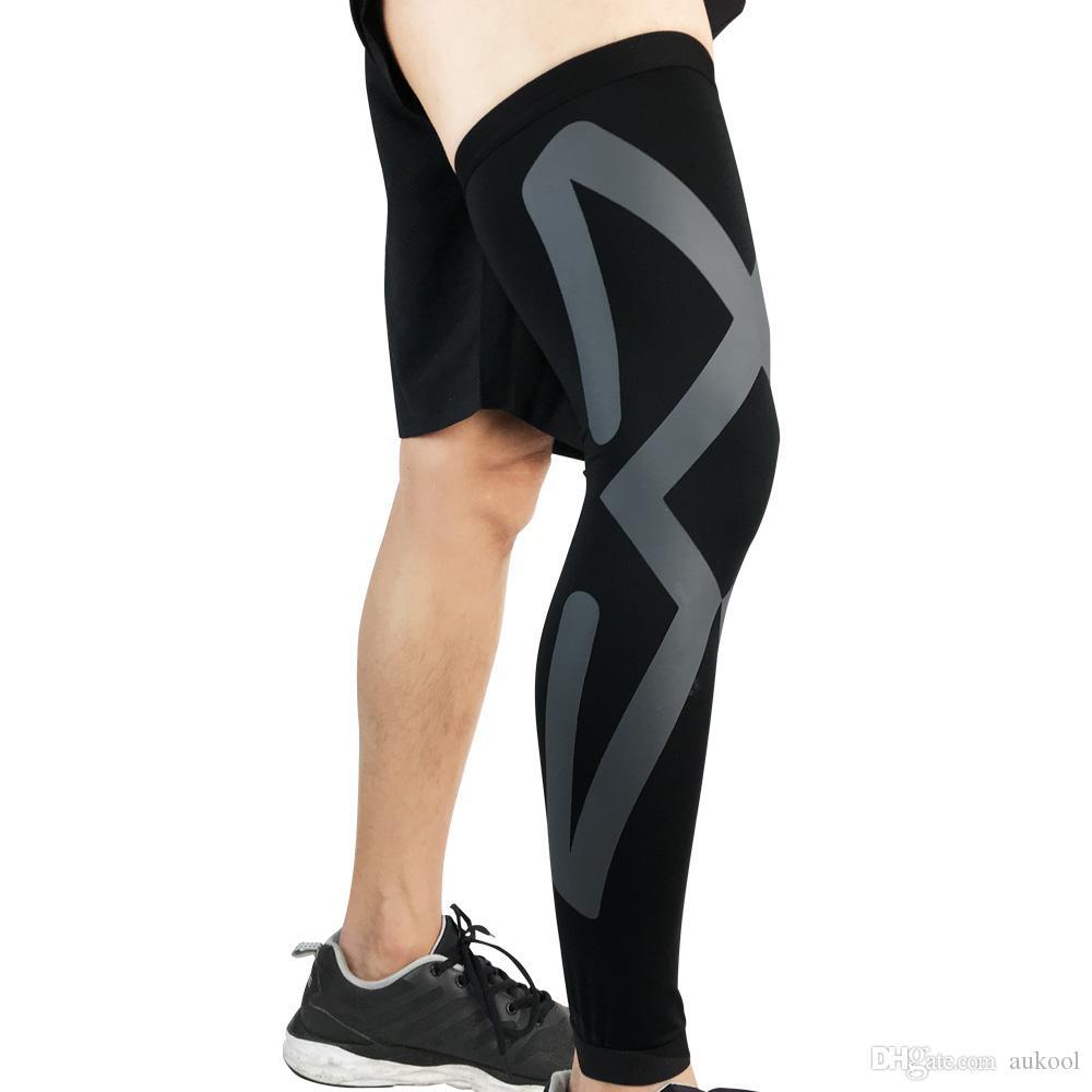 Sıkıştırma Bacak Kol Spor Kapak Bisiklet Koşu Kollu Basketbol Voleybol Bacak Kapak Bacak Isıtıcıları UV Koruma