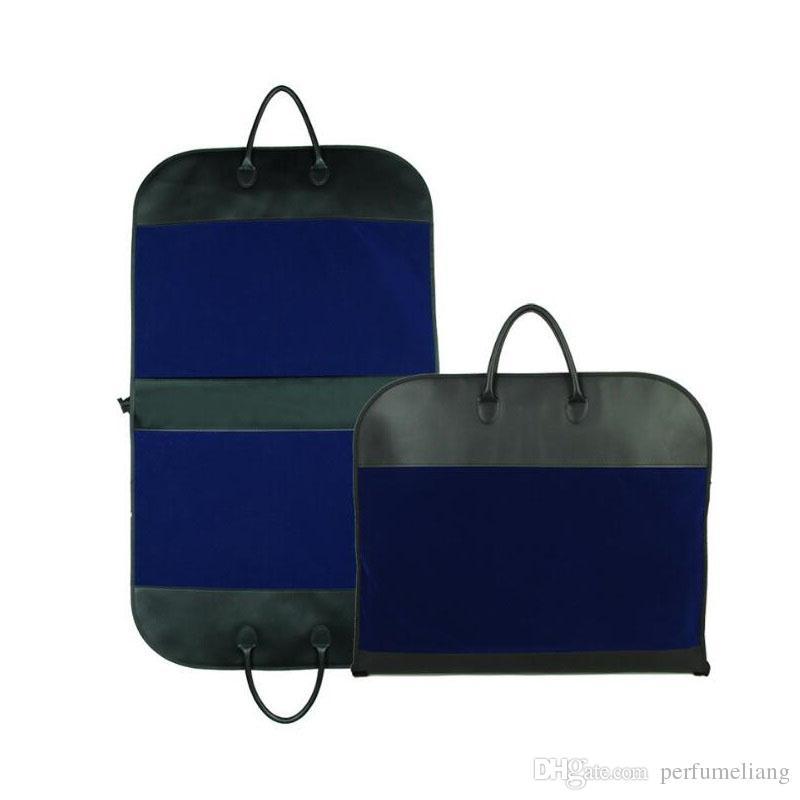 Business Suit Bag Portable PU Leather Folding Suitcase Dustproof Men Travel Coat Clothes Storage Bag ZA6598