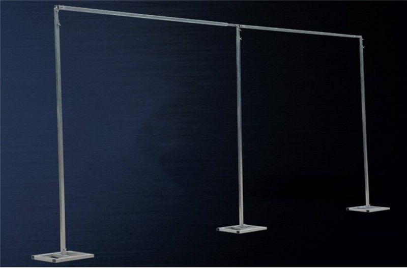 3 متر × 6 متر أنابيب الصلب الزفاف خلفية الوقوف مع توسيع قضبان خلفية إطارات ل إمدادات حزب الحدث زينة الزفاف